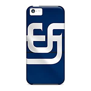 Protective Hard Phone Cover For Iphone 5c With Unique Design Lifelike San Diego Padres Pattern PhilHolmes