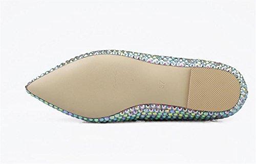 39 la Calzan Boda del 38 la Los del cristalinos nocturnos Las Clubes XIE de del Mujeres Zapatos pie Superficiales Las Dedo los Señalaron Mujeres Colorful COLORFUL Boca de de Nupciales Arco YZqAxTg