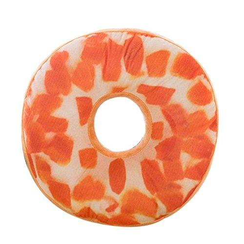 Donut Plush Pillowcase, Kimloog Ring Shaped Sofa Car Bed Decorative Soft Novelty Cushion Covers (G)