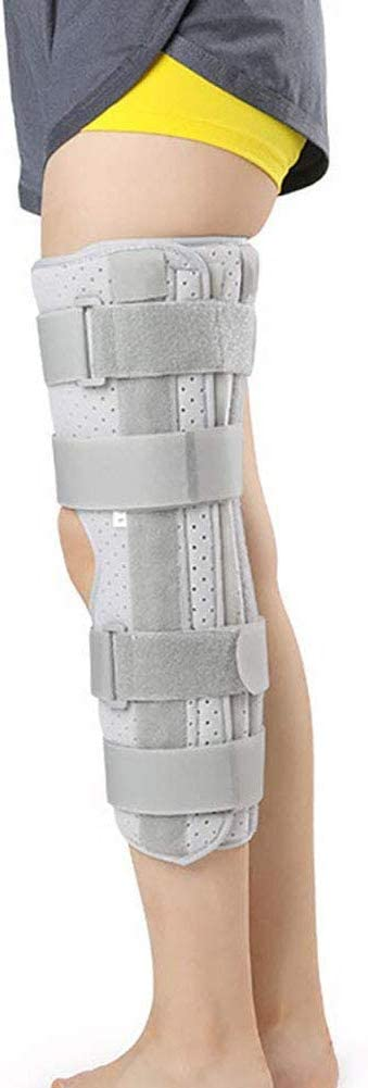 QXXNB Órtesis de Rodilla Ajustable Cómodo Transpirable para estabilizar la regeneración Estabilizador de Soporte ortopédico, Gris, L