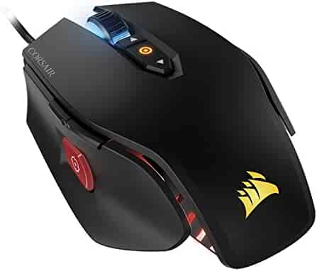 CORSAIR M65 Pro RGB - FPS Gaming Mouse - 12,000 DPI Optical Sensor - Adjustable DPI Sniper Button - Tunable Weights -  Black