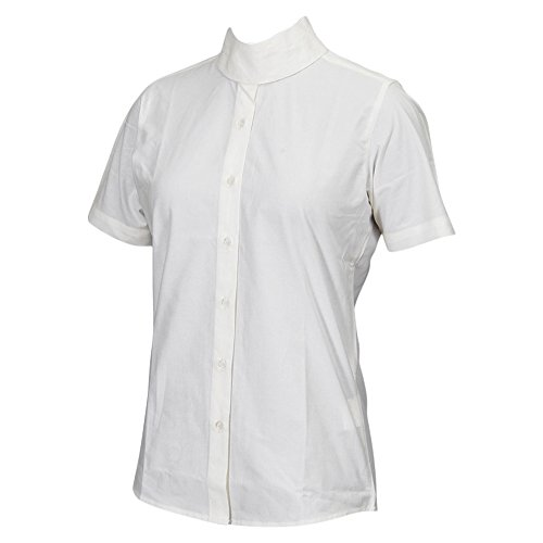 TuffRider Women's Starter Short Sleeve Show Shirt, White, 32
