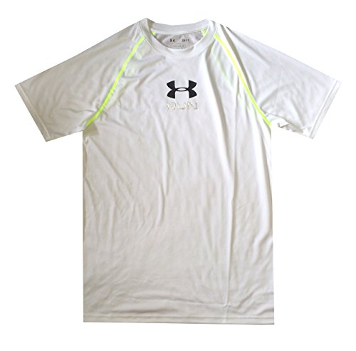 Under Armour Men UA Tech RUN HeatGear® Loose T-Shirt (L, White)