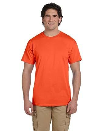 Adult Heavyweight Short Sleeve Tee Shirt, Color: Burnt Orange, Size: Small