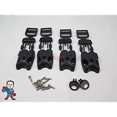 Spa Hot Tub Cover (4) Latch Lock Kit Key ACW Latch Strap Repair Kit : Garden & Outdoor