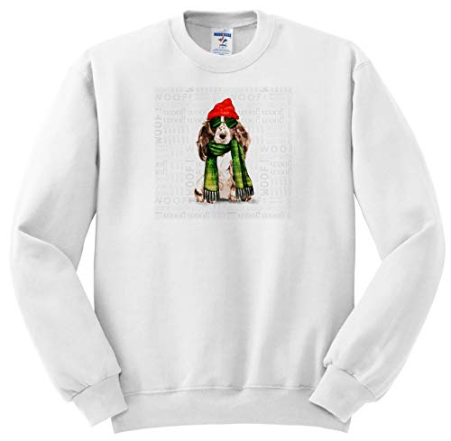 Doreen Erhardt Christmas Collection - Cocker Spaniel Lover Christmas Brown and White Funny Animals - Sweatshirts - Youth Sweatshirt XS(2-4) ()