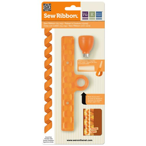 Card Sew (We R Memory Keepers Zig Zag Sew Ribbon Tool)