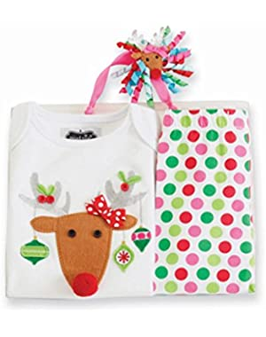 Baby-Girls Newborn Reindeer 3 Piece Set