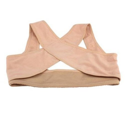 ieasysexy 2014 style Adjustable underwear Lady Chest Breast Support Belt Band Posture Corrector Brace Body Sculpting Strap Back Shoulder Vest X Type Pattern Prevent Chest sagging outside enlarge on the chest for female/women (M) (Strap Breast Style)