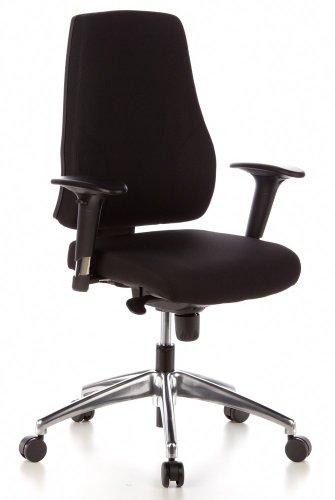 HJH OFFICE 608000 Bürostuhl / Drehstuhl Pro-Tec 200 Stoff, schwarz