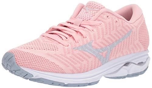 (Mizuno Women's Wave Rider 22 Knit Running Shoe, powder pink-cloud, 9.5 B US)