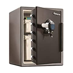 The SentrySafe SFW205GQC Fireproof Safe and Waterproof Safe offers ETL Verified water protection and UL Classified fire protection for your important documents, digital media, and other valuables. This safe is also equipped to protect from un...