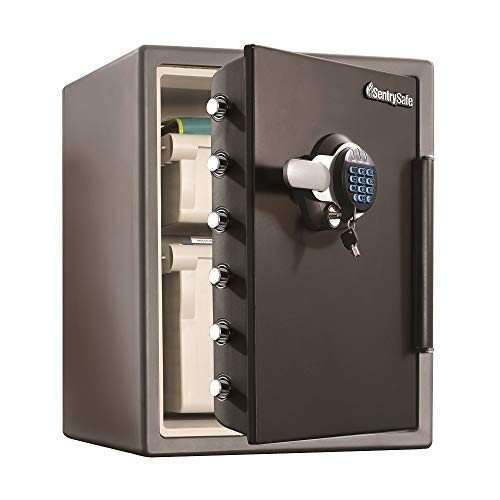 SentrySafe SFW205GQC Fireproof Safe and Waterproof Safe with Digital Keypad 2.05 Cubic Feet Black ()