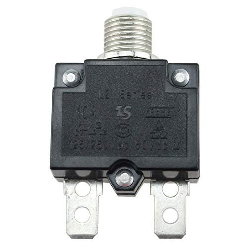 (Baynne 5A/10A/15A/20A/30A Circuit Breaker Waterproof Push Button Resettable Thermal Fuse Circuit Breaker Panel Mount)
