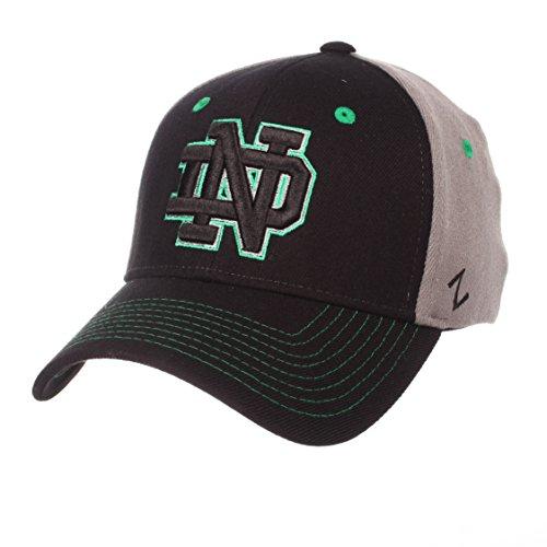 Fighting Duo - NCAA Notre Dame Fighting Irish Men's Duo Hat, Medium/Large, Black/Gray