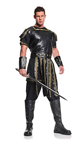 Underwraps Men's Roman Warrior, Black/Gold, One -