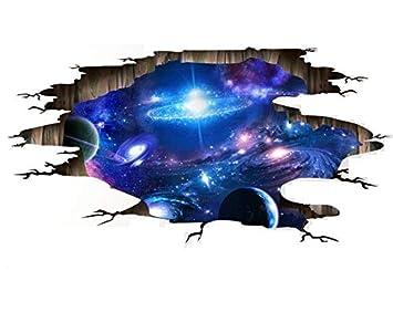Hallobo Xxl Wandtattoo Wandaufkleber 3d Universum Galaxie Weltraum
