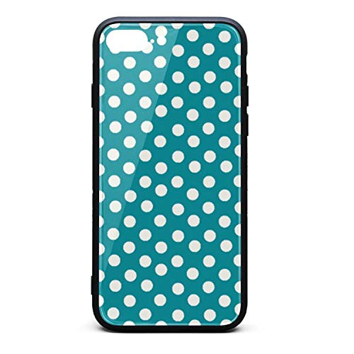 Xhilaration Dot - iPhone Case White dots Slim Flexible Soft Silicone Bumper Shockproof Case for iPhone 7 Plus Case/iPhone 8 Plus Case