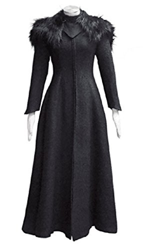 Cersei Costume For Sale (Xiao Maomi Hot Sale Womens Queen Black Fur collar Dress Cosplay Costume (Woman-XXL, Black))