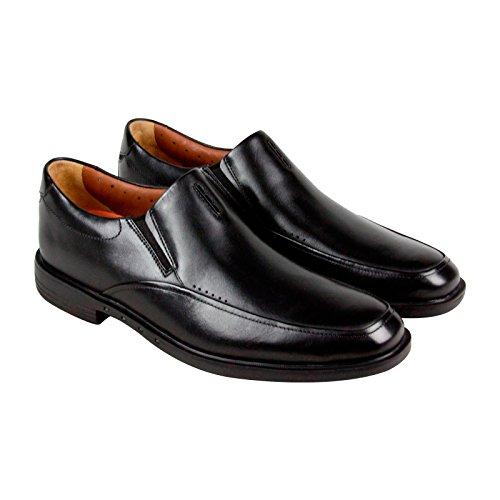 Clarks Unbizley Lane Mens Black Leather Casual Dress Slip On Oxfords Shoes 11