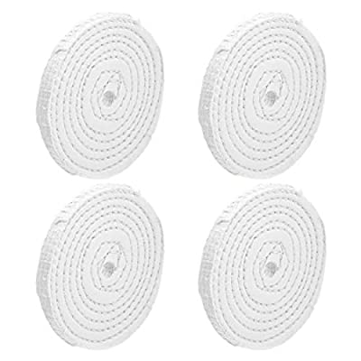 uxcell 4-Inch Buffing Polishing Pad Wheel Cotton for Manifold Aluminum Stainless Steel Chrome 4 Pcs: Home Improvement