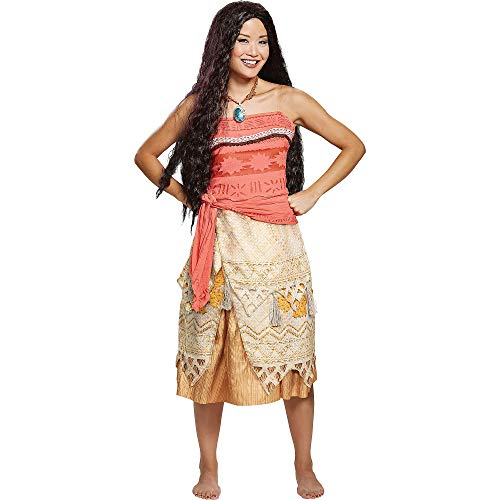 Licensed Disney Moana Deluxe Adult Womens Deluxe Costume Hawaiian Princess