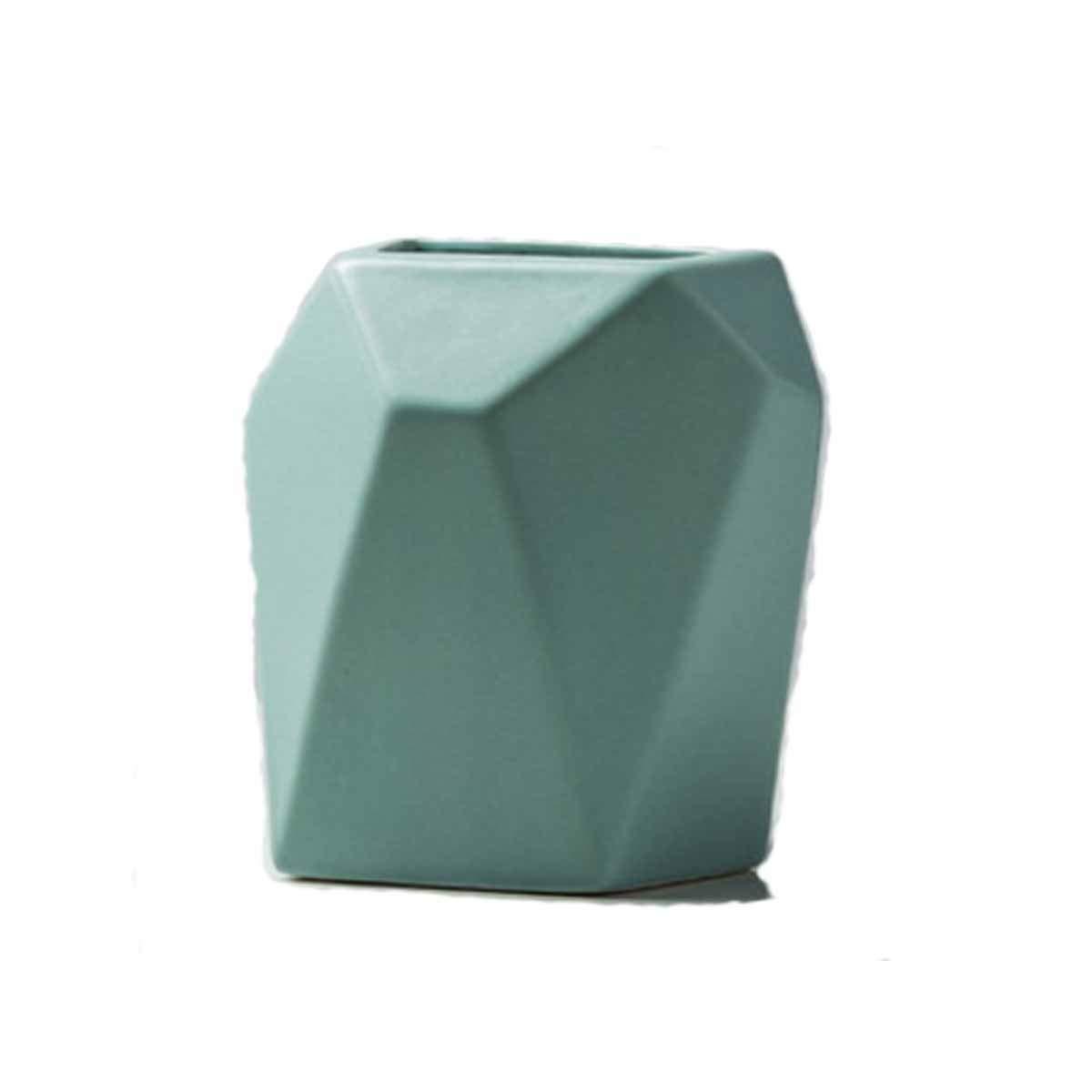 花瓶、シンプルなクリエイティブセラミック花瓶、花瓶の装飾モダンなリビングルームホームデスクトップの装飾、ブルー (Color : Blue) B07RSYWBFY Blue