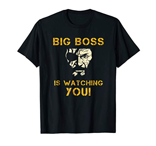 MGS Big V Boss TShirt Gear and Apparel for Video Games