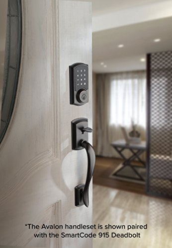 Kwikset 98150-001 Avalon Exterior Handle Only with Tustin Right-Handed and Left-Handed Levers in Venetian Bronze by Kwikset (Image #1)