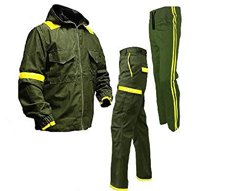 Men's Green Bomber Versity Twenty One Hi-Quality Cotton Pilots Hood Jacket (21 Pilot Cotton Hoodie Jacket with Cargo Pant, Small)
