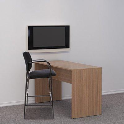 SedLivo 72 x 36 High Meeting Table, Walnut
