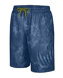 Nike Men\'s Solar Fade Volley 9 Inch Swim Trunks M OceanFog