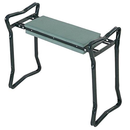 Goplus® Folding Sturdy Garden Kneeler Gardener Kneeling Pad & Cushion Seat Knee Pad - Kneeler Gardeners