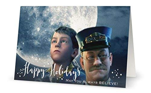 Polar Express Collage Holiday Card Set