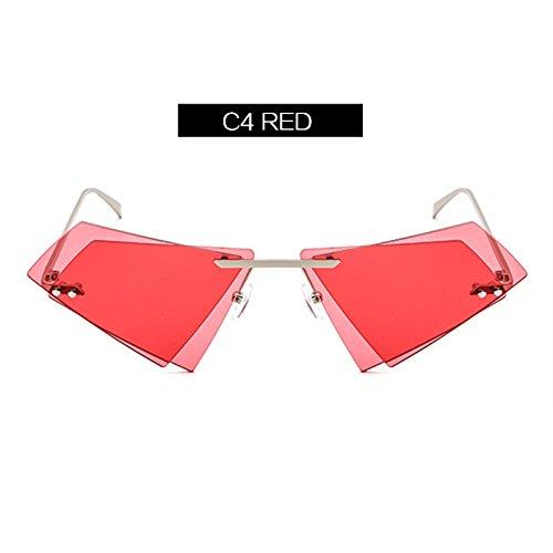 Irregular C2 Claro KLXEB Gafas Mujer Cerco Lente Sin Gafas Sol Espejo De Transparente C4 De Gafas Doble Personalidad Hombres awaOT1q