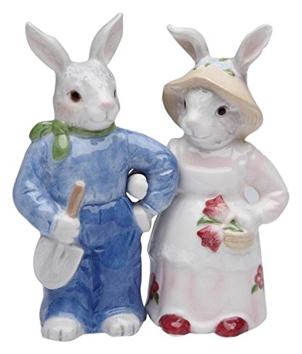 (StealStreet SS-CG-30205, 4.5 Inch Rosy Rabbits - Bunnies Salt and Pepper Shaker, Set of)