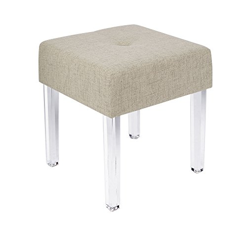 Silverwood Claire Acrylic Leg Square Bench (Vanity Stool Square)