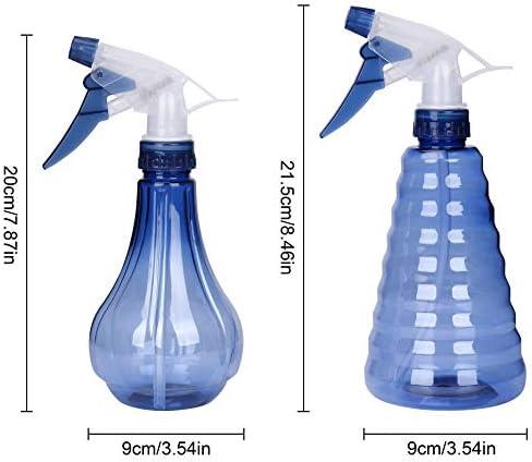 Flacons Pulvérisateurs 500ml Plastique Brume Fine Vaporisateur Vide Spray Bouteilles pour Nettoyage Jardinage et L'alimentation 2Pcs