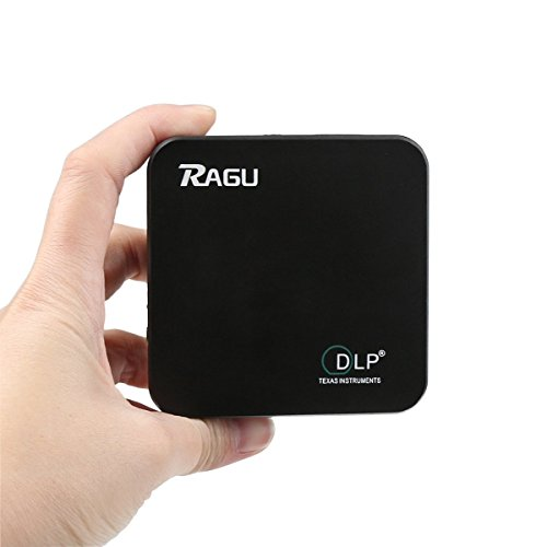 WiFi Beamer, RAGU E05 Projektor DLP Pico Mini Wifi Full HD Bluetooth Portable Android 1080P 1920x1080 für Handy / Smartphone / Heimkino / Kinderzimmer / Aussen / Gaming mit Deckenhalterung und Tasche