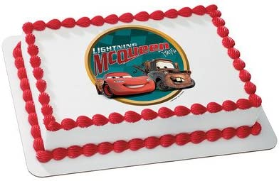 Super Amazon Com Cars 2 Lightning Mcqueen Edible Cake Topper Decoration Personalised Birthday Cards Cominlily Jamesorg