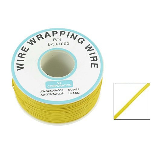 eDealMax PCB soldadura flexible Amarillo 0, 25 mm Dia Core 30AWG Wire envoltorio 820 pies - - Amazon.com