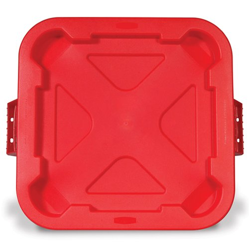 Red Snap-Lock Lid for 28 Gallon Square Brute Containers (1 Lid)