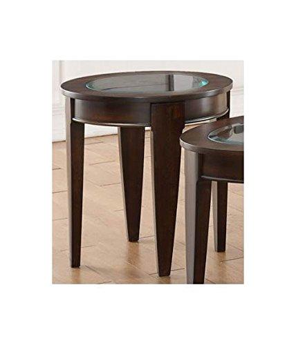Simmons Upholstery 7519-47 End Table, Merlot
