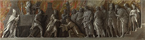 Oil Painting 'Andrea Mantegna The Introduction Of The Cult Of Cybele At Rome' 24 x 86 inch / 61 x 219 cm , on High Definition HD canvas prints, gifts for Game Room, Kids Room And Study Room Decoration by LuxorPre