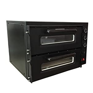 Chef Prosentials 220 Volts 50Hz NB400 Oven Toaster Countertop Stainless Steel 2pcs Pizza Stone 15″Pizza Convection Oven For Kiosk Max 300 degree Celsius