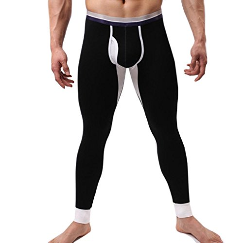 Big Promotion! Men Pants WEUIE Mens Winter Men Modal Long Johns Thermal Tight Pant Underwear Leggings (M, Black) (Sexy Thermal)