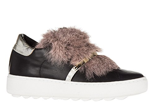 On Model Original Nuove Night Sneakers Femme Noir In Slip Philippe Cuir Bombay BSqTEqw