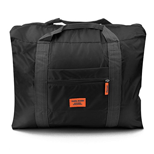 PackNBUY BLACK Travel Folding Carry On Luggage Bag