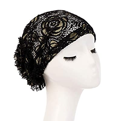 Women Lace Ruffle Chemo Turban Headband Scarf Beanie Cap Hat for Cancer Patient