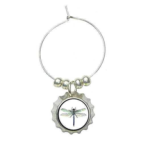 Dragonfly Wine Glass Bottlecap Charm Drink Marker (Dragonfly Wine Rack compare prices)